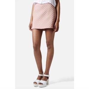 Topshop Foam Spot Embossed Miniskirt